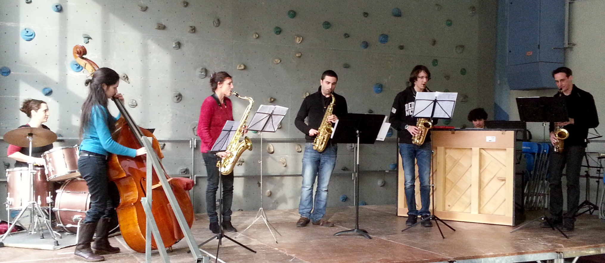 L'ensemble de l'atelier Jazz