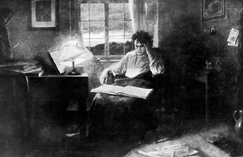 Ludwig van Beethoven en plein travail © Getty / Time Life Pictures/Mansell/The LIFE Picture Collection